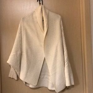 Forever 21 - Cream Knit Poncho Cardigan - Small